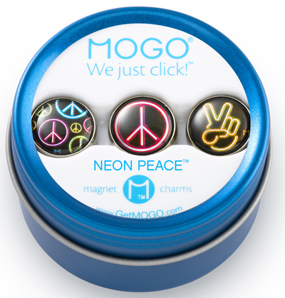 MOGO Magnet Charms - Neon Peace